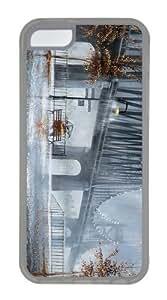case leather rain couple bridge TPU Transparent Case for iphone 5C