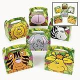 Fun Express Cardboard Zoo Animal Treat Boxes - 12 Pieces