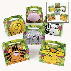 Fun Express Cardboard Zoo Animal Treat Boxes - 12 Pieces