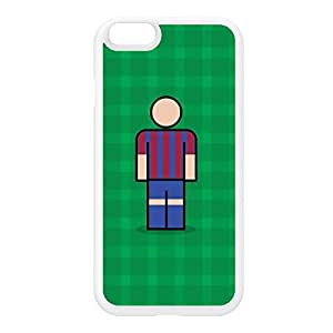 Barcelona White Silicon Rubber Case for iphone 6 by Blunt Football European + FREE Crystal Clear Screen Protector