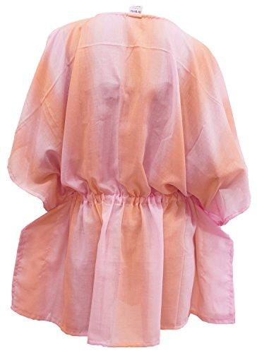 La Leela Frauen Bestickte Bademode Bikinibadebekleidung Badeanzug Aloha coevr up Kleid Rosa_1473 7jtZS