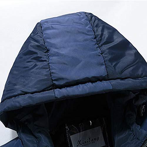 De Estampado Cazadora Para Chaqueta Abrigo Oscuro Azul Hombre O5qSCx1Sw