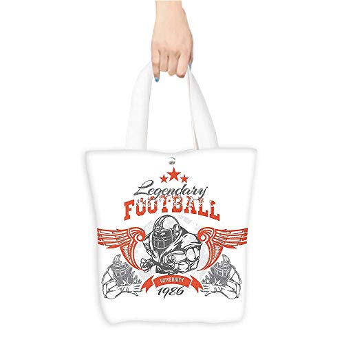 Football Canvas Vintage Daisy (Personalized Pattern Custom Shopping Bag Sports Decor Collection Vintage Print Art Legendary Football Sportswear Exercise Trainer Gym (W15.75 x L17.71 Inch))