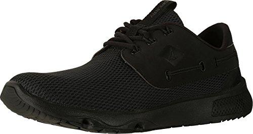 Sperry Top-Sider Men's 7 Seas 3-Eye Flooded Boating Shoe (11.5 D(M) US, Black)