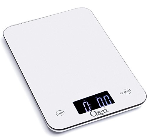 Ozeri Touch Professional Digital Kitchen Scale (12 lb Edition), Tempered Glass (Renewed)