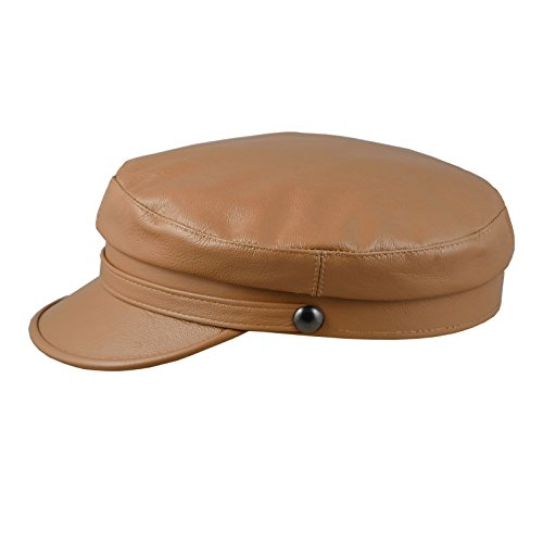 Sterkowski Trawler Hat Natural Leather US 6 3/4 Cognac