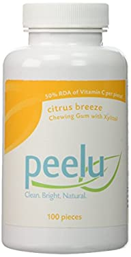The Peelu Co. Chewing Gum, Citrus Breeze, 100-Count