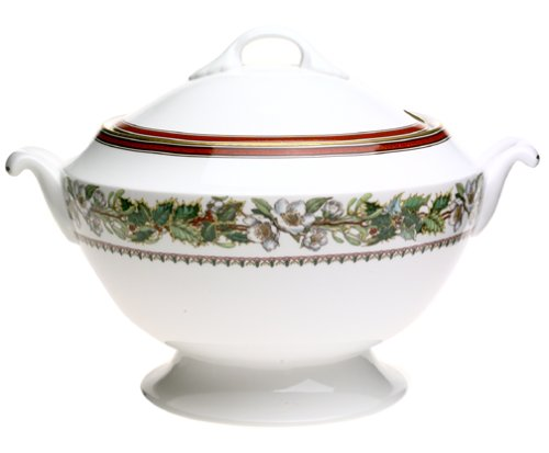 (Spode Christmas Rose Covered Soup Tureen)