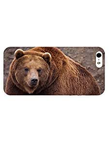 3d Full Wrap Case for iPhone 5/5s Animal Big Brown Bear73