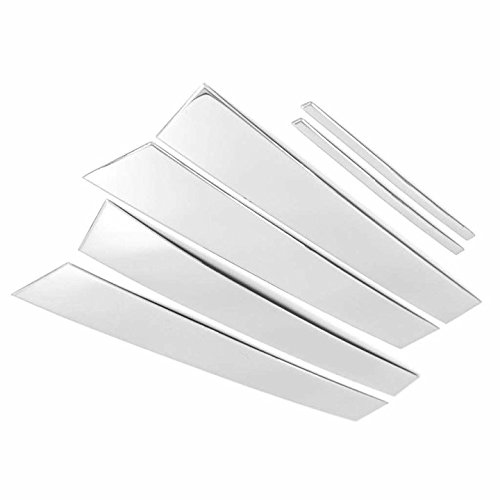 TX Racing Shipping from USA Polished Stainless Steel Pillar Posts Accent Covers for 2011-2017 Chrysler 300//300C