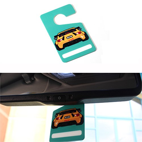 iJDMTOY (1) Cool JDM 86 FT86 Car Rearview Mirror Hanging Tag Pendant For Scion FR-S Subaru BRZ (Rear View Mirror Tags)