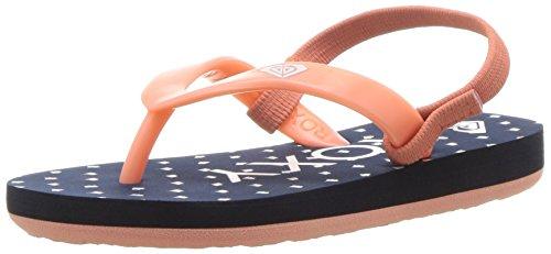 Roxy Girl's TW Tahiti Flip-Flop Sandal , navy/gum , 5 M US Toddler