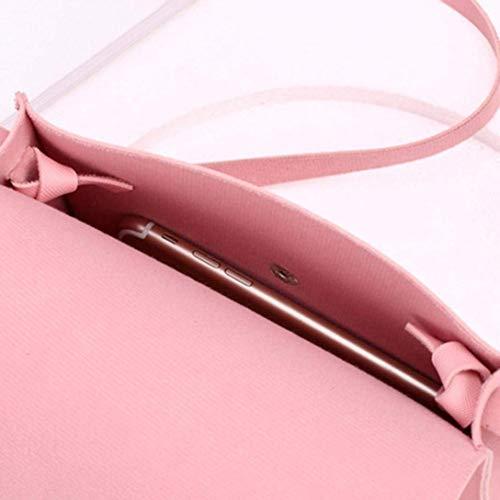 Cuir Coin Taille Sac Rose Sac Bandoulière Épaule Main Femmes Téléphone en Messenger À Mode coloré UExwBqvU
