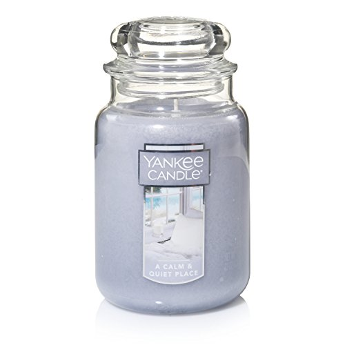 Yankee Candle Large Jar Candle, A Calm & Quiet Place made in Massachusetts