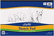 "UCreate Sketch Pad, Standard Weight, 18"" x 12"","