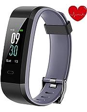 alwaiiz Fitness Armband,Fitness Tracker mit Aktivitätstracker,Pulsuhren,Schlafmonitor,Schrittzähler Wasserdicht Fitness Uhr Zweifarbiger Armbanduhr für Damen Herren