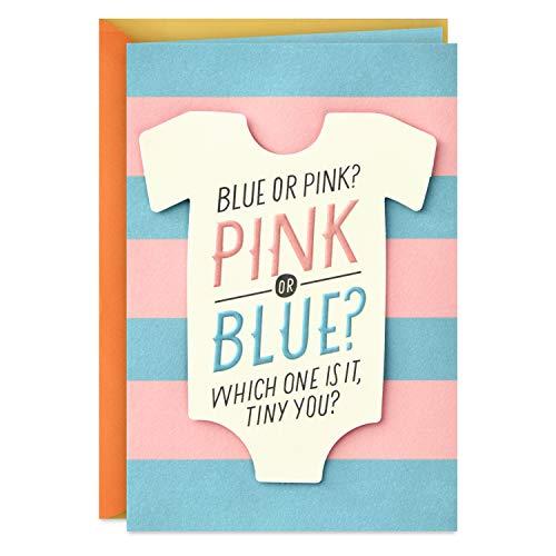 Hallmark Baby Shower Card or Gender Reveal Card (Pink or Blue)