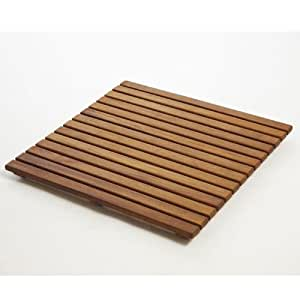 """Infinita Corporation Le Spa 24"""" Square Teak Floor and Shower Tile in Oiled Finish"""