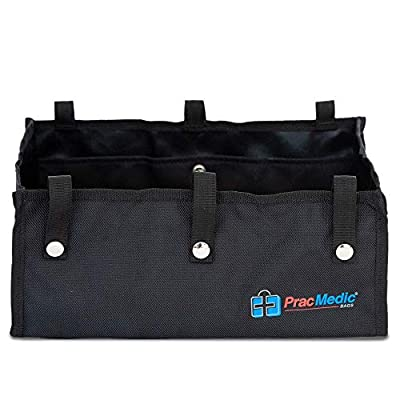 """PracMedic Bags® Under Seat Rollator Bag or Tote for Four Wheel Rollator or Walker -12.5"""" Long x 8.5"""" Wide x 5.5"""" High - Sold Empty (Black)"""