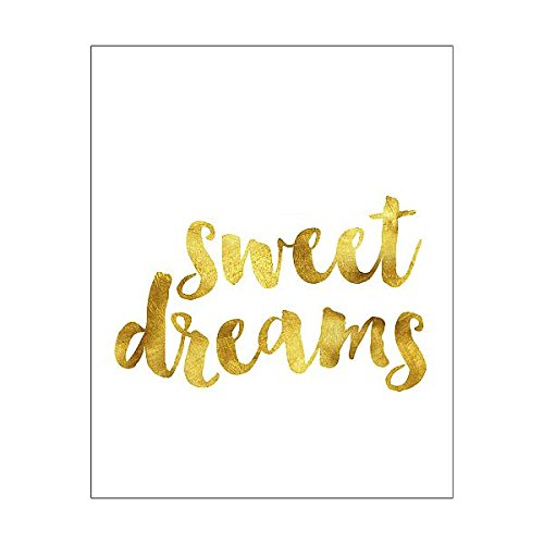Sweet Print Dreams (Media Storehouse 10x8 Print of Sweet dreams gold foil message (14797507))