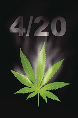 420 Marijuana Leaf and Joints Photo Art Print Poster 12x18