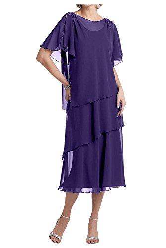 Charmant Regency Kurzes Brautmutterkleider Partykleider Ballkleider Chiffon Festlichkleider Abendkleider Damen rB8xwqCr