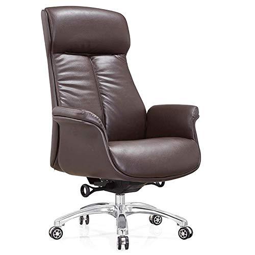 Silla de cuero, silla de cuero de oficina, silla de oficina rellena de esponja de cuero-2