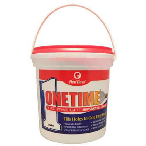 - Red Devil 0542 Onetime Lightweight Spackling, 1/2Pint, White