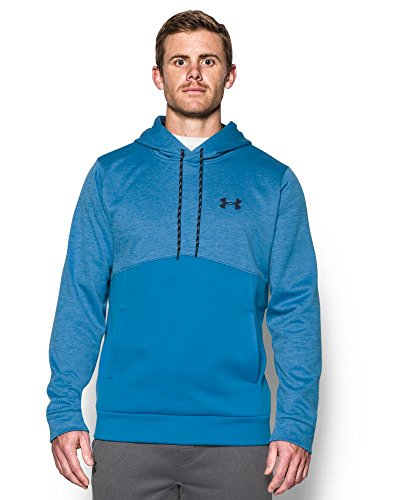 Under Armour Men's Storm Armour Fleece Twist Hoodie, Brilliant Blue/Midnight Navy, Small