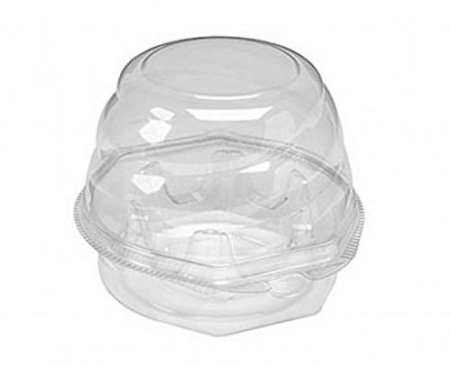 Small Swirl Dome Single Cupcake / Muffin clamshell Container – 270 / Case