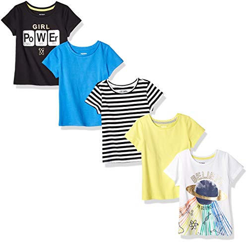 (Spotted Zebra Big 5-Pack Short-Sleeve T-Shirts, Science Girl, Medium (8))