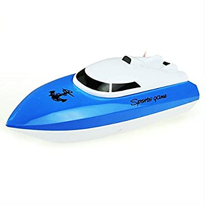 RC Boat SZJJX Remote Control High Speed Electric Race Boat 4 Channels for Pools, Lakes and Outdoor Adventure JX802 Blue
