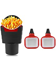ORNOOU 3 Pack French Fry Cup Holder Automotive Interior Accessories Chips Car Mini Dipping Cups Car Accessories