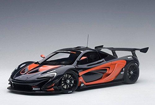 McLaren P1 GTR in Dark Grey Metallic/Orange Accents Composite Model Car in 1:18 Scale by AUTOart