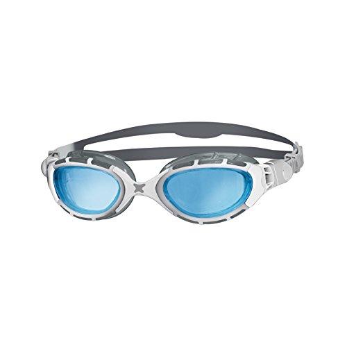- Zoggs Unisex Predator Flex 2.0 Swimming Goggles, White/silver/tint, One Size