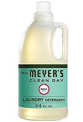 Mrs. Meyers Laundry Detergent, Basil, 64 fl oz