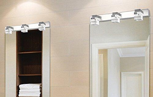 Modern K9 Crystal Led Bathroom Make Up Mirror Light Cool: Lightess Vanity Lights 3-Light Bathroom Light Fixtures LED