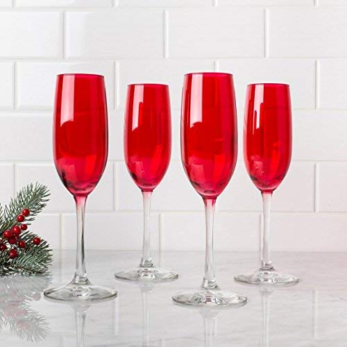 Libbey Ruby Red Champagne Flute - Set of 4