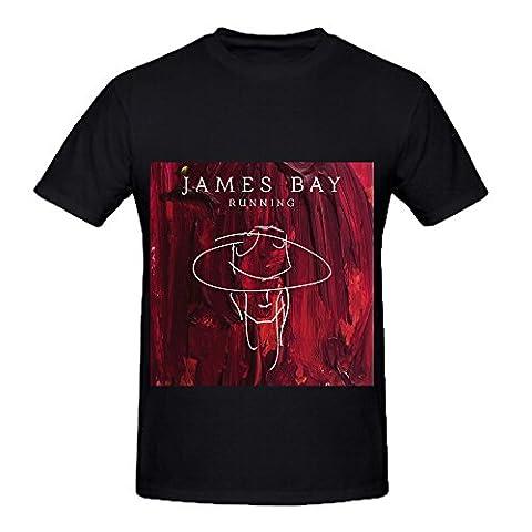 James Bay Running Rock Album Cover Mens Crew Neck Design T Shirt Black (Lisa Paz)