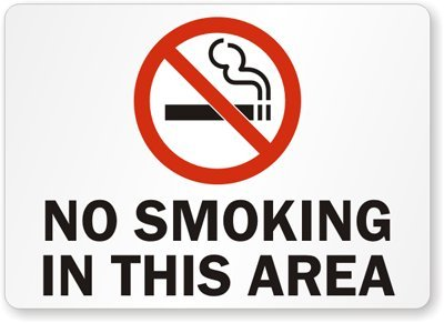 Amazon.com: No fumar en esta área (con símbolo). Cartel, 14 ...