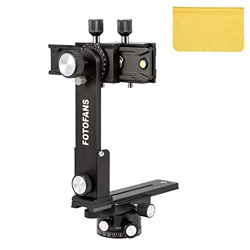 Upgraded Generation IV Fotomate Professional 360°Swivel Panoramic Tripod Ball Head Gimbal Bracket with Suitcase for DSLR -