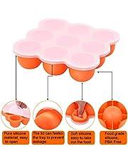 UMIGAL Babybrei Aufbewahrung zum Einfrieren von Babynahrung und als Behälter für Beikost | 2 Farben zur Auswahl | BPA-frei & FDA zugelassen | 9 x 75ml, ideale Portionsgröße