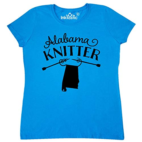 inktastic Alabama Knitter in Black Women's T-Shirt Small Sapphire
