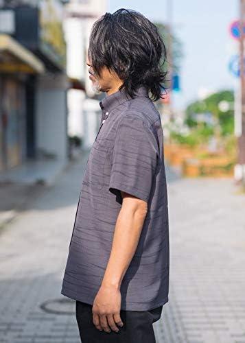[MAJUN (マジュン)] 国産シャツ かりゆしウェア アロハシャツ 結婚式 メンズ 半袖シャツ ボタンダウン トレックラッシュ