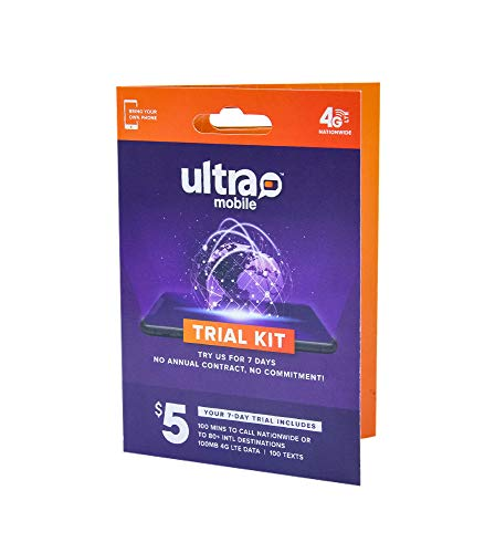 Ultra Mobile Trial Kit | Verify Compatibility with Our International Talk, Text & Data Plans (Best Talk And Text Only Plans)