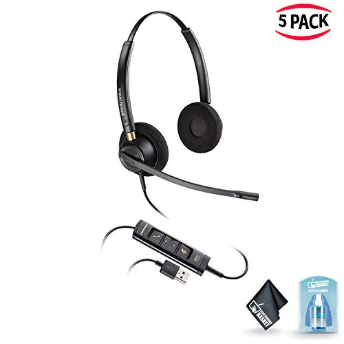 Plantronics EncorePro HW525 Stereo USB Headset? with Accessories Small Office Saver Combo (5 ()