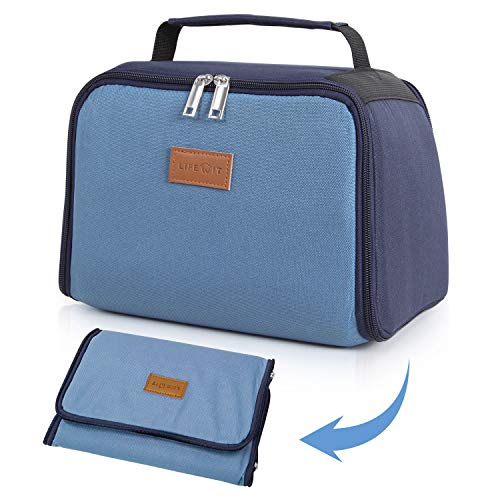 - Lifewit Insulated Collapsible Lunch Bag Bento Tote 8L(12-Can) for Adults, Blue