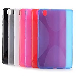 TOPAA Simple Style X Shape Design Gel TPU Case for Samsung Galaxy Tab Pro 8.4 T320(Assorted Colors) , Transparent