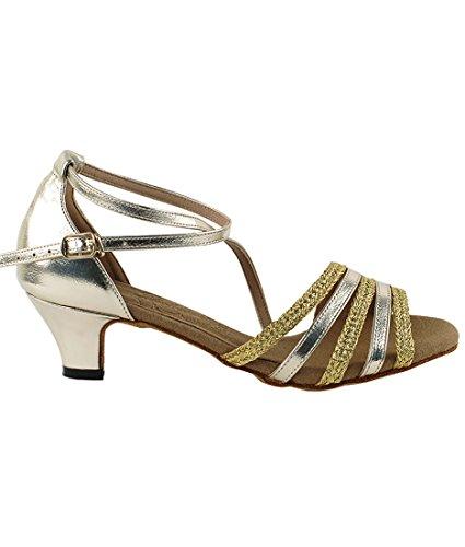 Chaussures De Danse Salsa Tango Latine Très Belle Salle De Bal Pour Les Femmes S9278 1.2-inch Talon + Bundle De Brosse Pliable
