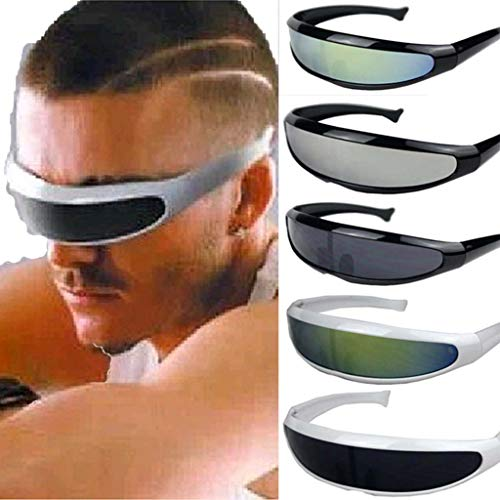 DDLmax Women Man Outdoor Fishtail Uni-Lens Sunglasses Riding Cycling Glasses Eyewear (E)